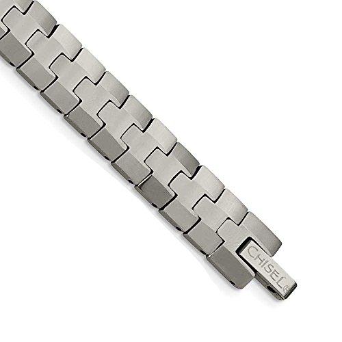 Tungstène poli-JewelryWeb Bracelet 8,5 pouces