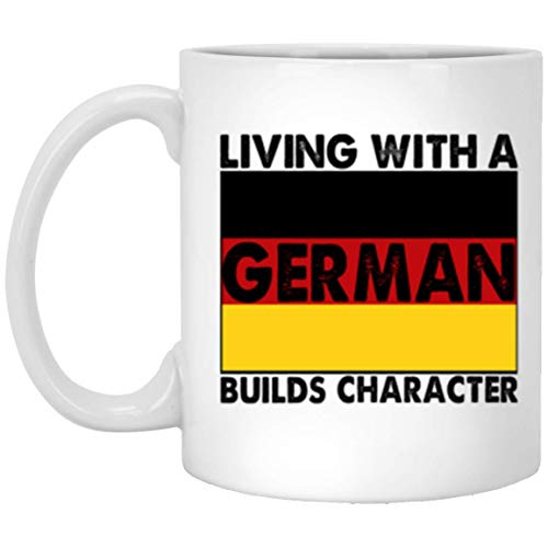 (Perfect Present For You Non - German Friends Living With A German Builds Characters Coffee Mug - 11Oz Black Gift For Colleague Teammate Flatmate In Christmas Birthday Valentine Party)