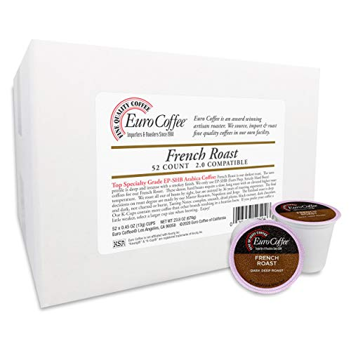 Euro Coffee Single-Serve Cups (French Roast, 52 Count)