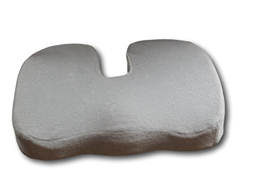 Kolbs Gel (AirGo Products Coccyx Cushion - Coccyx Pillow - Take All The Pin Point Pressure Off Of Your Tailbone - Innovative Cooling Gel - Memory Foam - Ultra-plush, Removable Fabric)