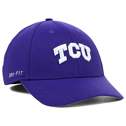 (Nike TCU Horned Frogs Legacy 91 Conference Swoosh Performance Flex Hat - Purple)