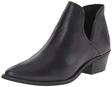 Steve Madden Womens Austin Side Cutout Ankle Bootie Shoes, Black, US 5.5