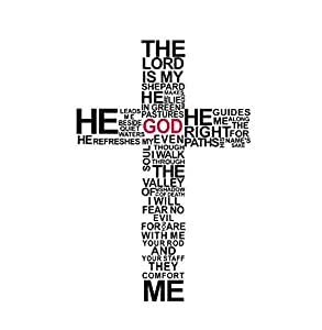 The Lord Cross letter Wall sticker DIY self-adhesive Living room bedroom Background wallpaper decal