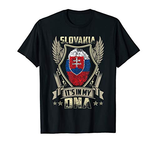 It'S In My DNA Slovakia Flag T Shirt Slovak -