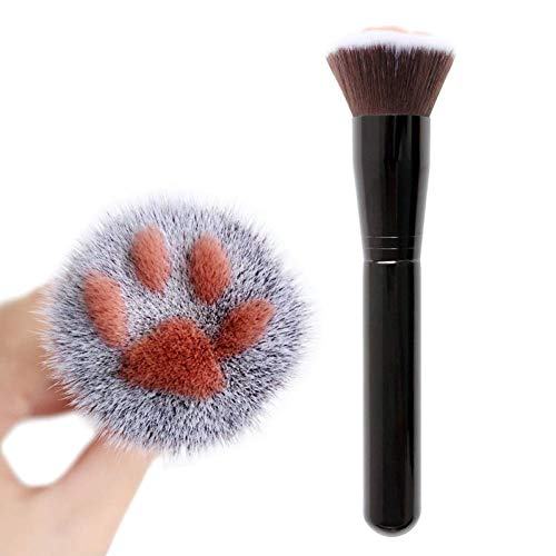 - 1Pcs Cat Claw Shape Makeup Brushes Powder Brukawaii Foundation Brush Man-Made Fiber Hair Birch Handle Beauty Tool