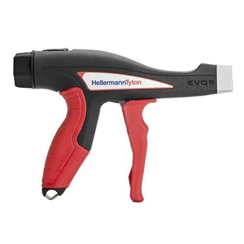 Hellermann Tyton North America 110-80000 EVO 9 Mechanical Hand Tool, Standard Hand Span 90 mm, Metal, Evo9, 5.3'', Red