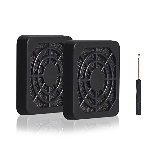 ELUTENG 40mm Fan Filter 2 Pack Dustproof Cover USB Cooling Ventilator Plastic Grill 40x40 USB Fan Blower Mesh Kit Compatible for DIY 4cm Computer Case Fan Dirt Filtering