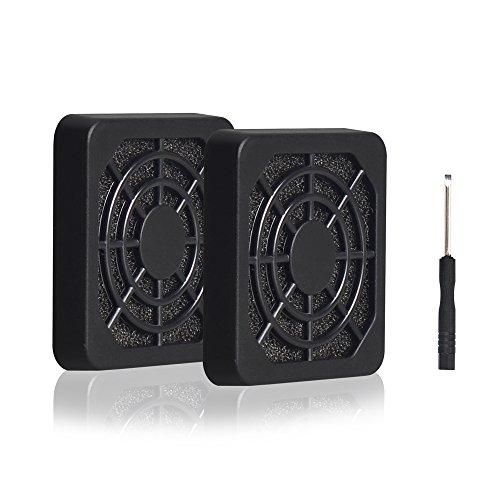 (ELUTENG 40mm Fan Filter 2 Pack Dustproof Cover USB Cooling Ventilator Plastic Grill 40x40 USB Fan Blower Mesh Kit Compatible for DIY 4cm Computer Case Fan Dirt Filtering)