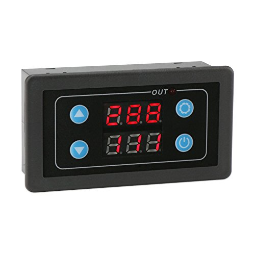 Timer Relay, DROK Digital LED Display Relay Switch Panel AC 85-265V 220V Timing Delay Cycle ON-OFF Control 0-999ms 0-999s 0-999m 0-999h Adjustable Repeat Cycle Controller Module