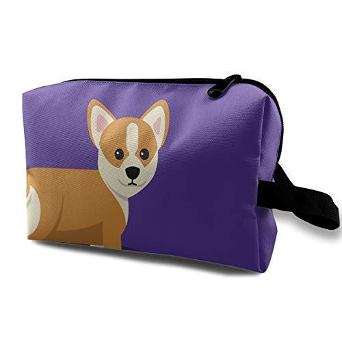 QiiRy Corgi Clip Art Cute Portable Travel Bags Dust-Proof Organizer Space Saving Storage Bags with Zipper