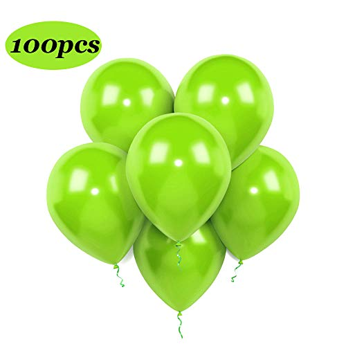 Lime Latex Balloons, 12-Inch,320-g,Light Green (100 Pack)