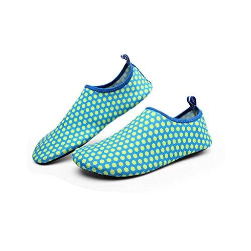 Natación 4azul Descalzo Eagsouni® Aqua para Agua Buceo de Calcetines Deportivos Shoes Surf Playa Zapatos Aguamarina w66qT0X