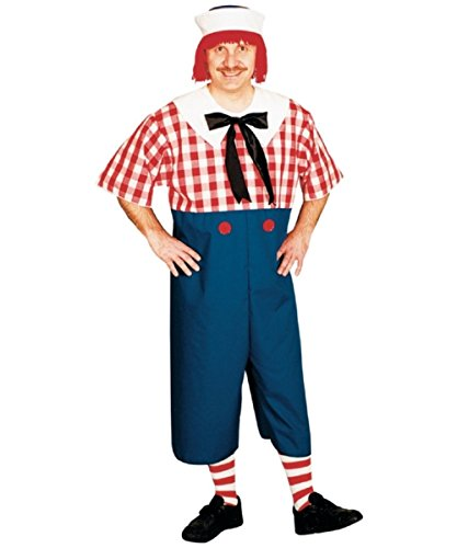 Raggedy Ann Andy Costumes Adults (Raggedy Andy Costume - Standard - Chest Size 33-45)