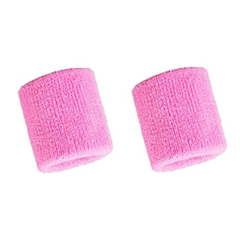 Kagogo 3 Inch Cotton Sports Wristband / Sweatband For Basketball Tennis And Other Sports, Price/Pair (Pink)