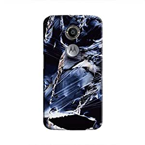 Cover It Up Rough Saphire Hard Case For Moto X2 - Multi Color
