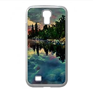 Clouds Reflection HDR Watercolor style Cover Samsung Galaxy S4 I9500 Case (Lakes Watercolor style Cover Samsung Galaxy S4 I9500 Case)