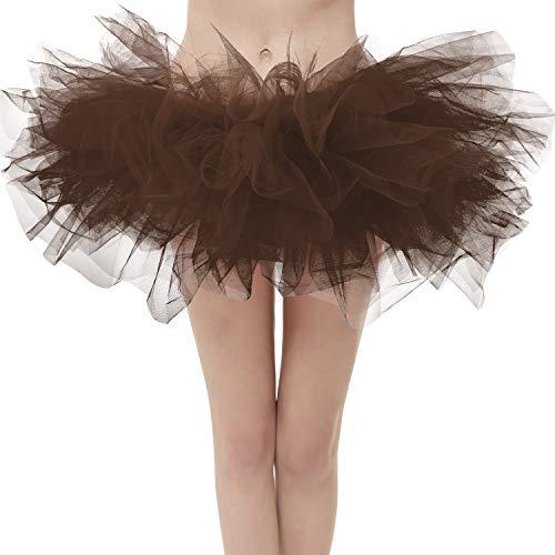 Topdress Layered Tulle Tutu Skirts Brown Regular Sizing