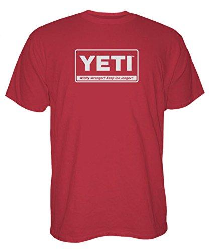 YETI Men's Billboard T-Shirt Short Sleeve Brick Red Small