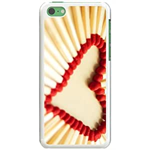 Apple iPhone 5C Case EMO Love Love Matchsticks Love White