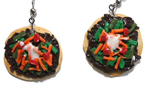 Mexican Tostada Tortilla Realistic Looking Fake Food Polymer Clay - Weird Holidays And Bizarre