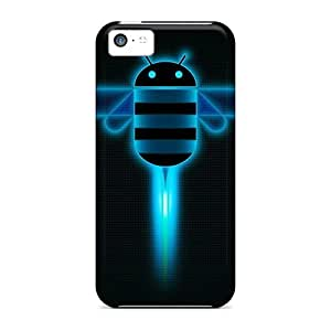 Awesome Android Honeycomb Flip Case With Fashion Design For Iphone 5c