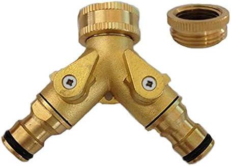 Tutoy Conector De Tubo De Agua De Cobre 2-Outlet para 3/4 1/2 Conector De La Válvula De Conexión De Jardín Conjuntos De Herramientas: Amazon.es: Hogar