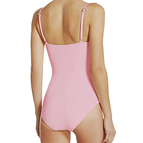 Kate Spade High Neck Keyhole Gold Bow Accent Open Back One Piece Swimsuit Black Small