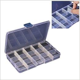 Caja organizadora de material cuentas, tornillos con 15 compartimentos: Amazon.es: Libros
