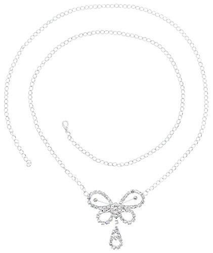 - Butterfly Rhinestone Belly Chain Waist Body Chain/Waist Chain