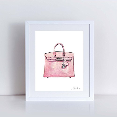 Hermes Birkin Bag Print Light Pink Hermes Handbag Art Hermes Watercolor Painting Fashion Illustration Fashion Art Print Vintage Hermes Preppy Art Print Canvas Art