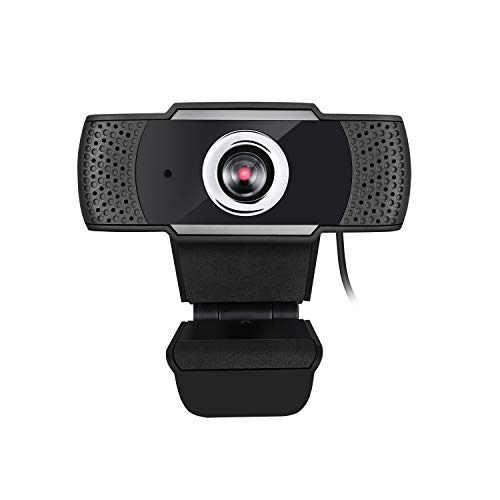 Adesso CyberTrack H4 Webcam 1080P HD USB Webcam with Built-in Microphone, Black