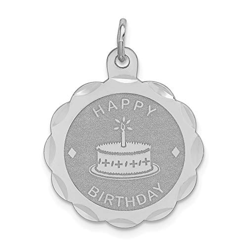 Pendant Disc Birthday Happy - 925 Sterling Silver Happy Birthday Disc Pendant Charm Necklace Special Day Fine Jewelry Gifts For Women For Her