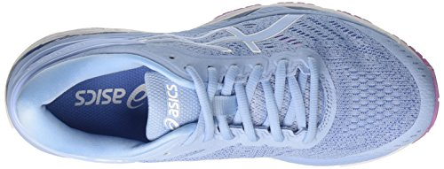 Asics Unisex-Kinder Gel-Kayano 24 GS Laufschuhe, Blau (Directoire Blue/Peacoat/Safety Yellow), 40 EU