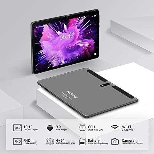 Android 9.0 Pie Tablet : MEBERRY 10″ Ultra-Fast 4GB/RAM,64GB/ROM Tablets-8000mAh Battery-WiFi Support – Bluetooth Keyboard | Mouse | M7 Tablet Cover and More Include – Grey 41j 2BqfZJRIL