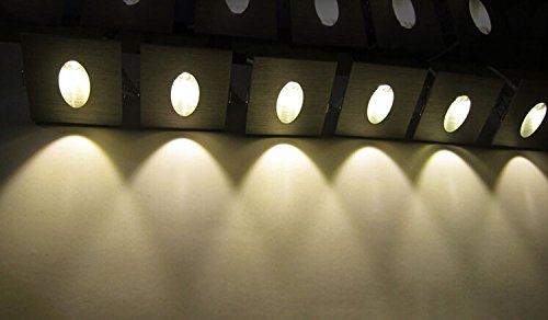 LUMINTURS 3W LED Wall Sconces Corner Step Light Fixture Recessed Lamp + J...