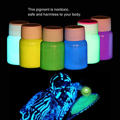 Value-Home-Tools - 6 Colors Glowing Halloween Fluorescent Body Face Paint Makeup Flash Tattoo Painting Colorful Drawing Pigment Body Paint -