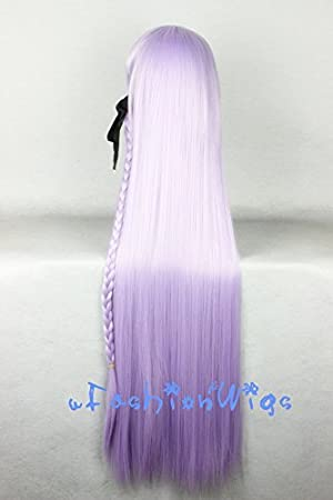 Amazon.com : Dangan Ronpa Kyouko Kirigiri Cosplay Wigs, 100cm Light Purple Costume Wigs for Party UF044 : Beauty