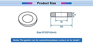 1pc DN200//250//300//350//400//800 Flat Ring Gasket Black EDPM Material Flat Gasket Ring Washer Cushion Plain Sealing Rubber Ring Gasket Size : DN400 426x488x3mm