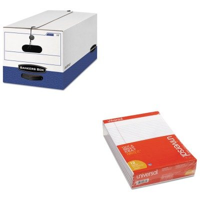 KITFEL00022UNV20630 - Value Kit - Bankers Box Liberty Storage Box (FEL00022) and Universal Perforated Edge Writing Pad (UNV20630) by Bankers Box