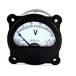 62t51-v Ac 0-250v Class 2.5 Panel Gauge Voltage Analog Volt Voltmeter