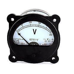 62t51-v Ac 0-250v Class 2.5 Panel Gauge Voltage Analog Volt Voltmeter