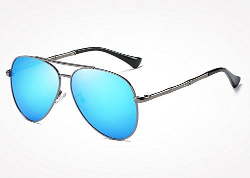 Vintage gris gafas hombre masculinos blue para de Sunglasses sol sol TL Retro Drive de hombres Gafas gafas gray plata UV400 tonos OYqInT8