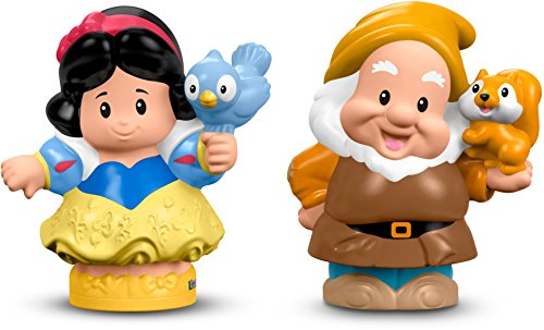 Fisher-Price Little People Disney Princess Snow White & Dwarf Figure