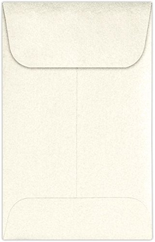 #1 Coin Envelopes (2 1/4 x 3 1/2) – Champagne Metallic (250 Qty.) | Perfect for the HOLIDAYS, Weddings, Parties & Place Cards | Fits Small Parts, Stamps, Jewelry, Seeds | 1COCHAMP-250