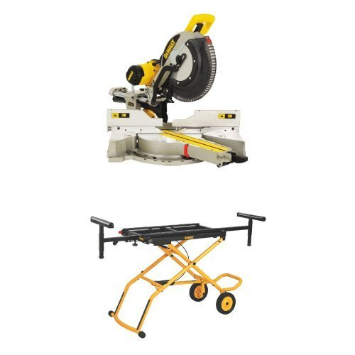 DEWALT DWS780 12-Inch Double Bevel Sliding Compound Miter Saw w/ DWX726 Rolling Miter Saw Stand