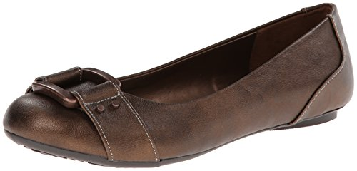 Dr. Scholl's Women's Frankie Ballet Flat,Bronze,6.5 M US by Dr. Scholl's Shoes
