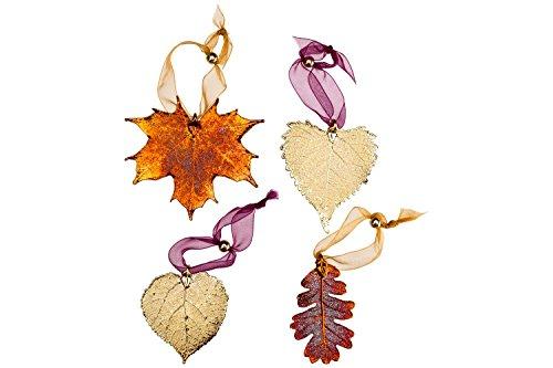 Curious Designs Leaf Ornament Set - Four Leaves, Aspen, Maple, Oak and Cottonwood