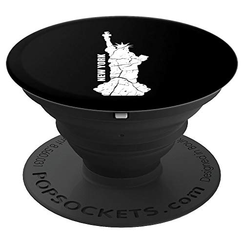 New York City Shirt NYC Statue Of Liberty I Love NY PopSockets Grip and Stand for Phones and Tablets -