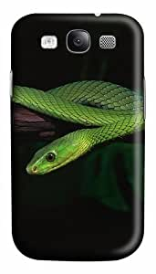2014 Green Snake Desktop Custom Polycarbonate Hard Case Cover for Samsung Galaxy S3 SIII I9300
