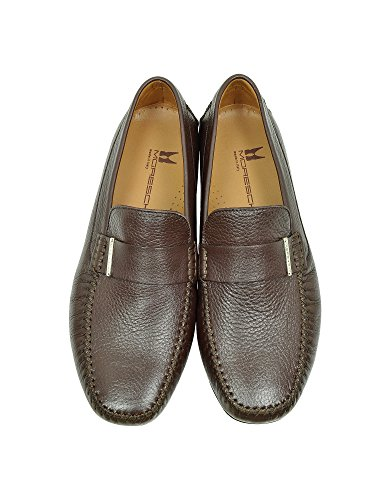 MORESCHI HOMME 41426SHMIAMIDKBROWN MARRON CUIR MOCASSINS